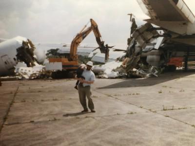 Aircraft dismantlement, Bruntingthorpe